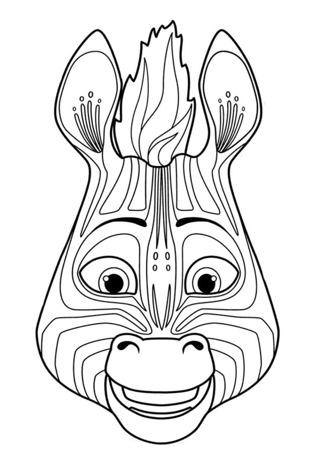 Coloring pages Khumba printable for kids adults free