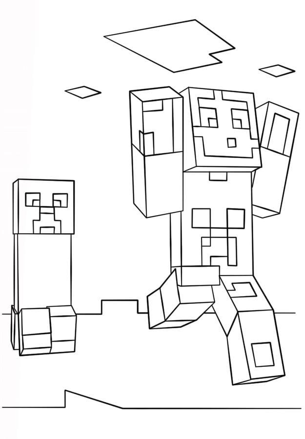 Kolorowanki Minecraft do druku