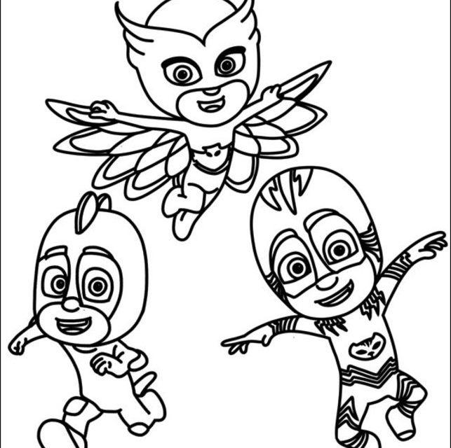 Dibujos Para Colorear PJ Masks Imprimible Gratis Para