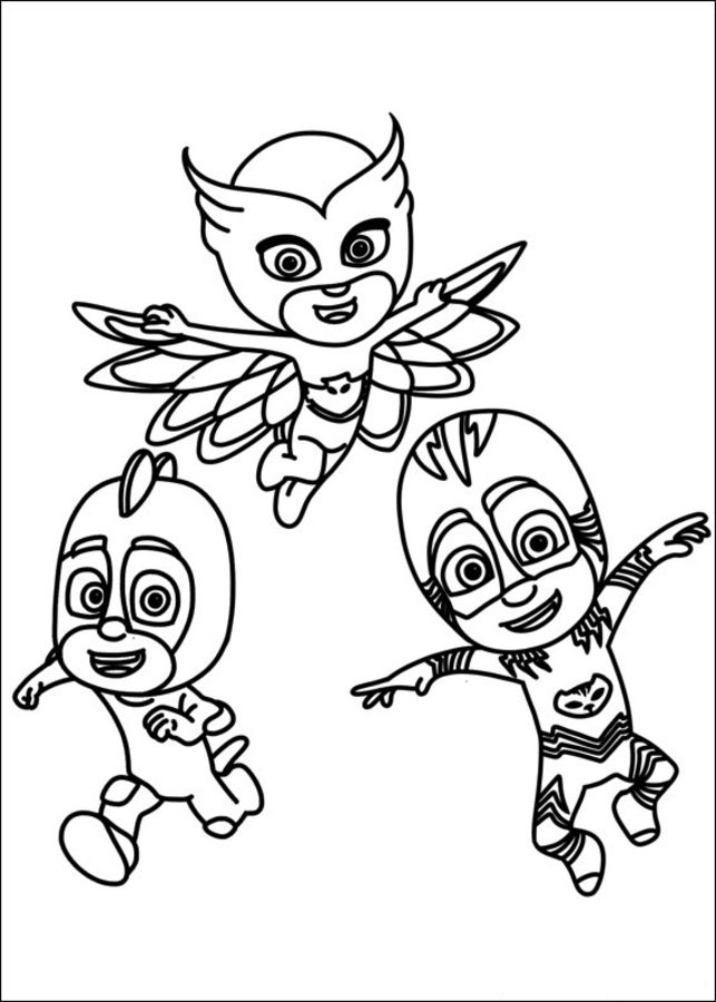coloring pages pj masks printable for adults free