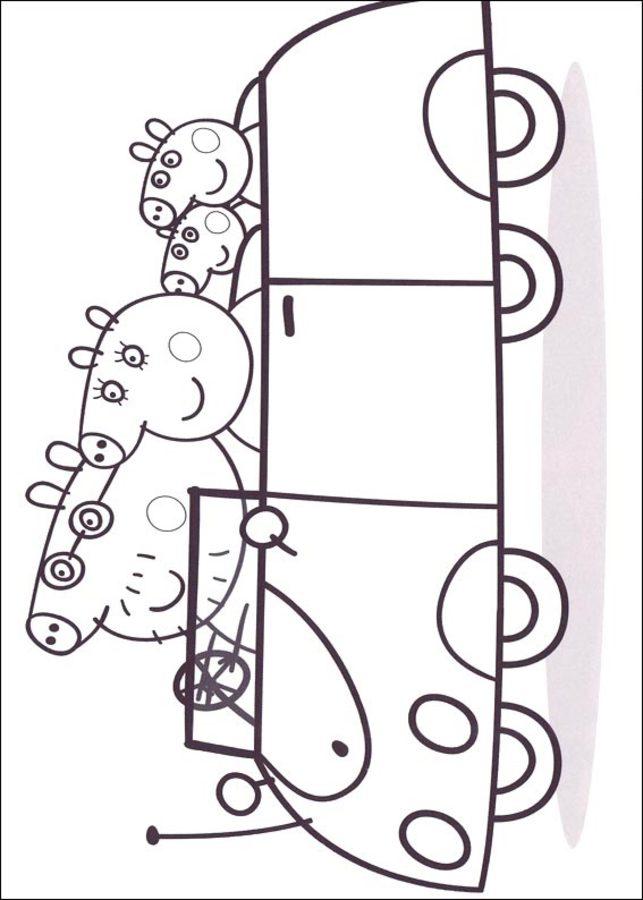 ausmalbilder  peppa wutz zum ausdrucken  kostenlos  f u00fcr