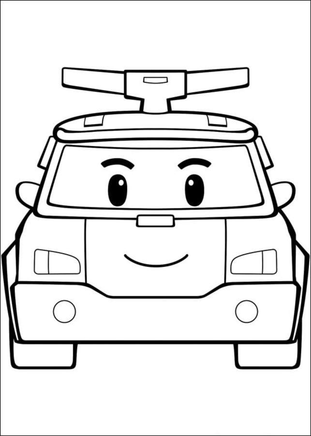 Cartoni Animati Robot Car Poli Disegno Di Poli Robocar Da Colorare