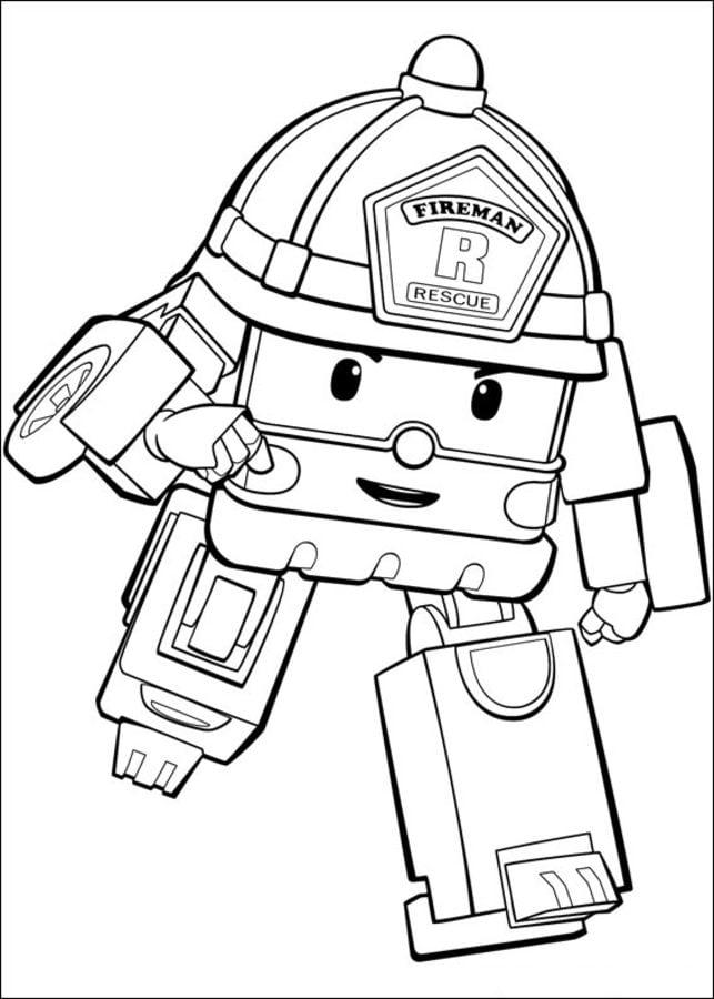 Coloriages robocar poli imprimable gratuit pour les - Dessin anime gratuit robocar poli ...