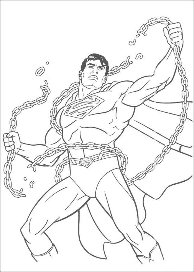 ausmalbilder superman zum ausdrucken kostenlos für