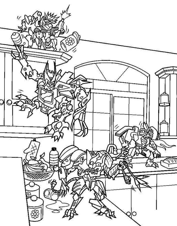Disegni Da Colorare Transformers Stampabile Gratuito