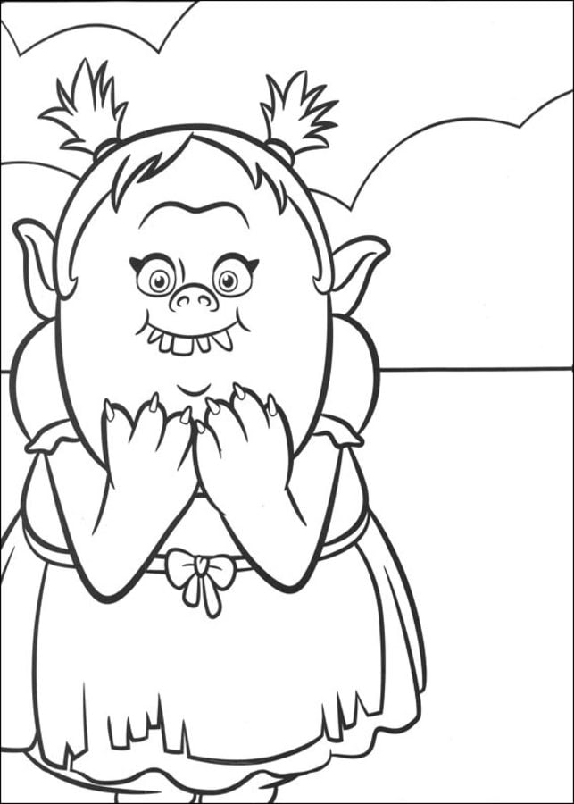 Coloring pages: Trolls, printable for kids & adults, free