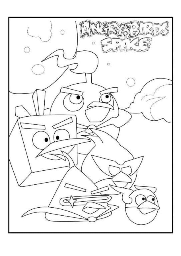 Angry Birds Space Coloring Pages Ice Bird