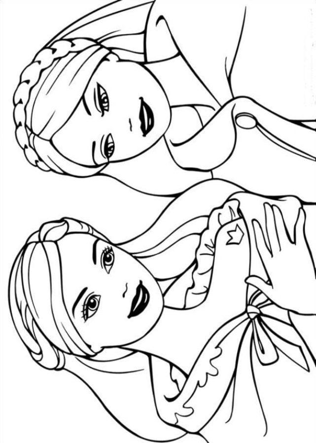barbie logo coloring pages | Ausmalbilder: Barbie als die Prinzessin und das ...