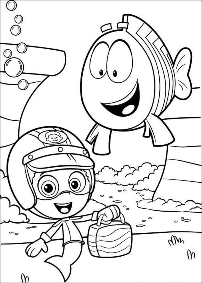 Disegni da colorare bubble guppies stampabile gratuito for Bubbles guppies da colorare