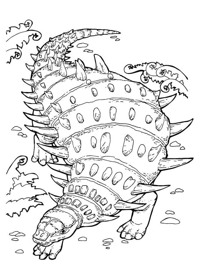 Disegni Da Colorare Anchilosauro Stampabile Gratuito