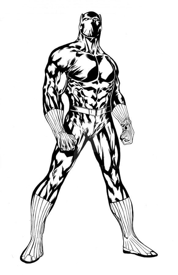 Dibujos para colorear Pantera