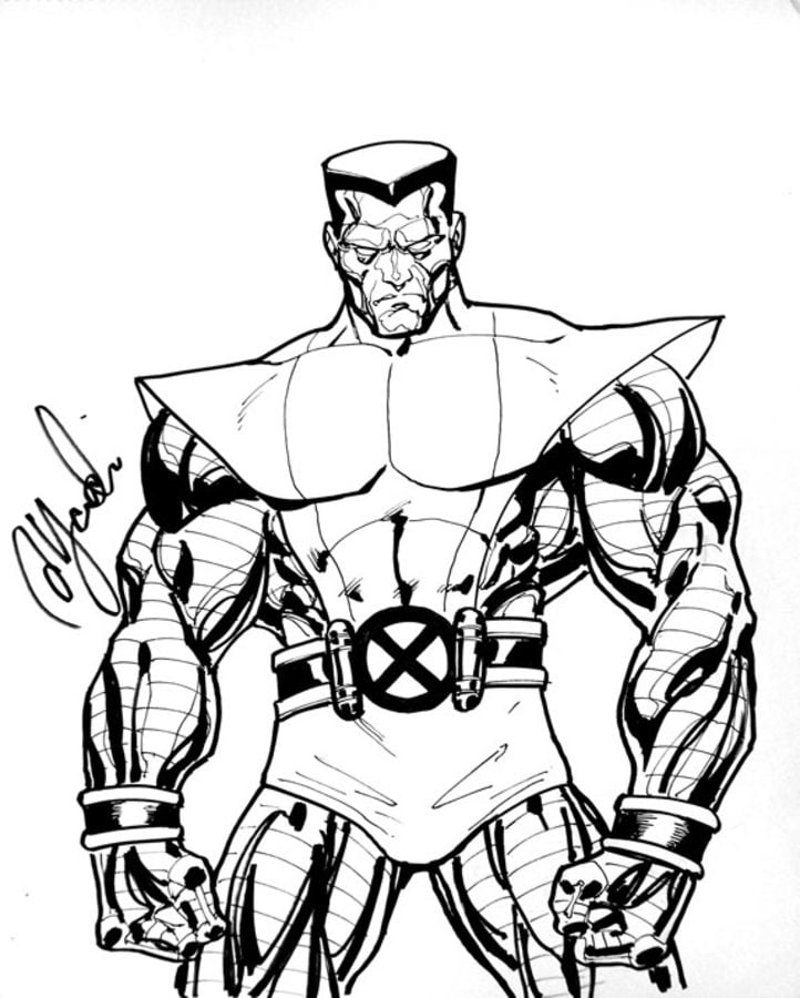 Coloring pages: Colossus, printable for kids & adults, free