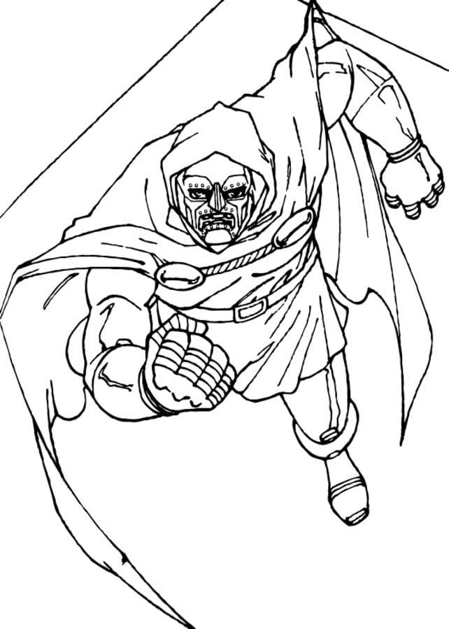 Dibujos Para Colorear Doctor Doom Imprimible Gratis