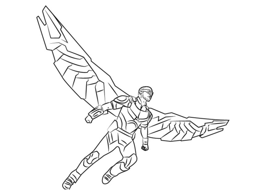 marvel falcon coloring pages - photo#21