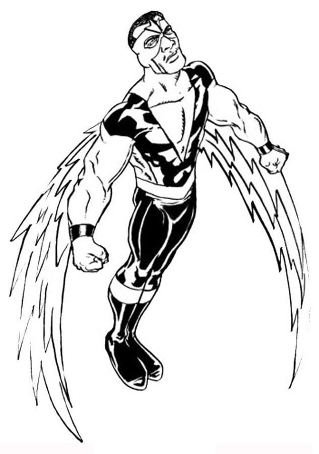 Dibujos para colorear Falcon imprimible gratis para los