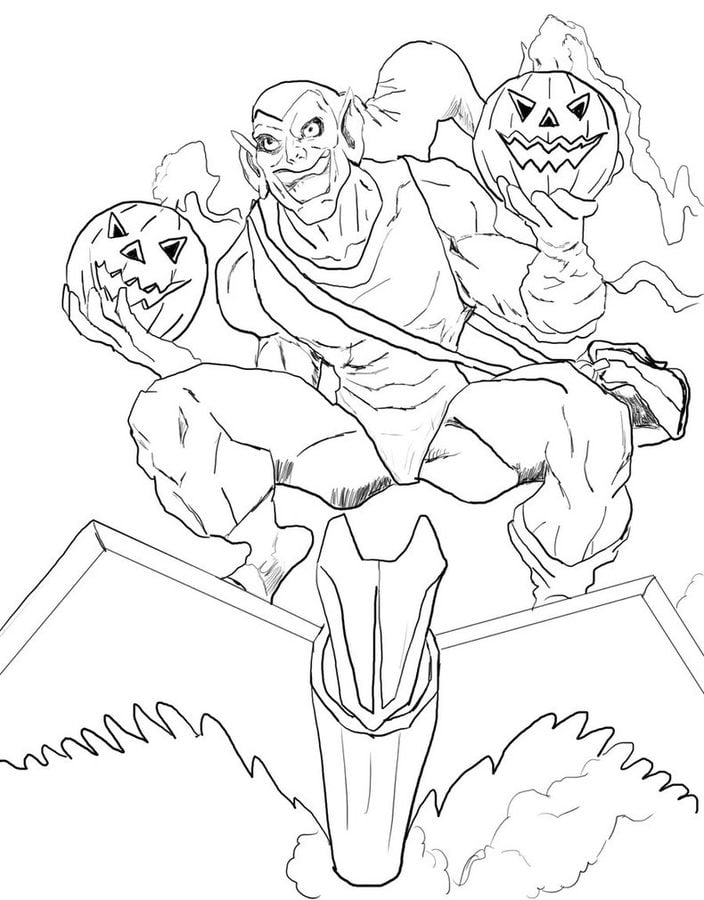 coloring pages green goblin - photo#16