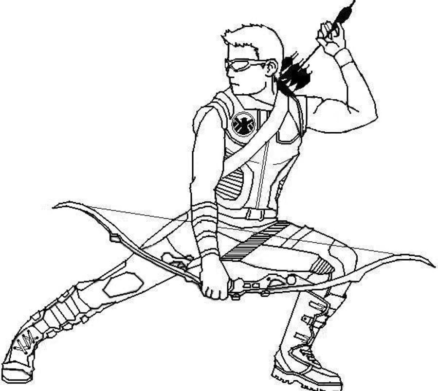 marvel hawkeye coloring pages dibujos para colorear ojo de halc n imprimible gratis