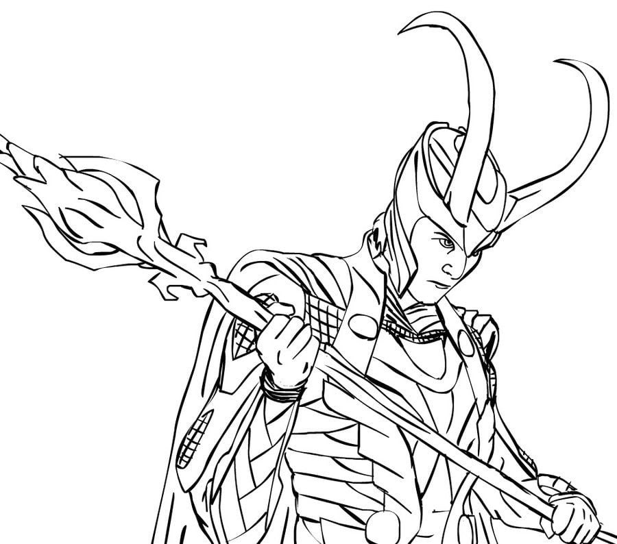 Coloring Pages Loki Printable Kids Adults