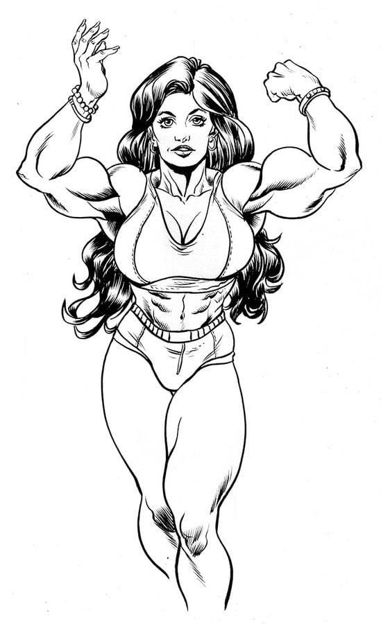 Ausmalbilder Hulk Hulk Zum Ausdrucken: Ausmalbilder: She-Hulk Zum Ausdrucken, Kostenlos, Für