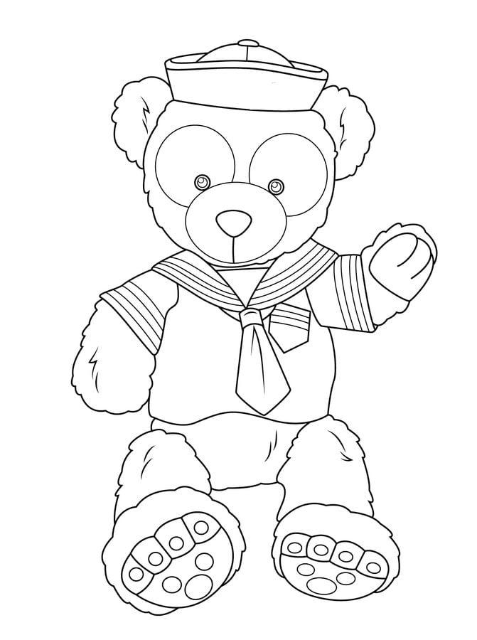 Disegni da colorare orsacchiotto stampabile gratuito - Orsacchiotto da colorare in ...