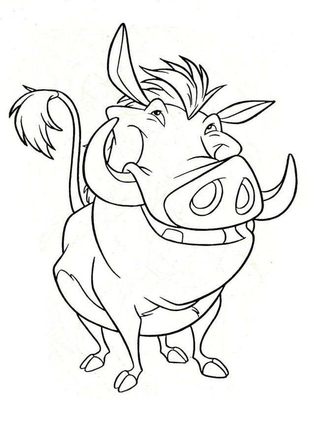 Coloring pages Warthog printable