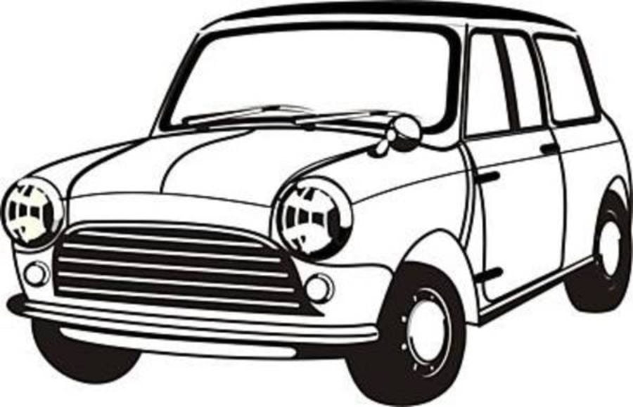 mini cooper cars coloring pages transport