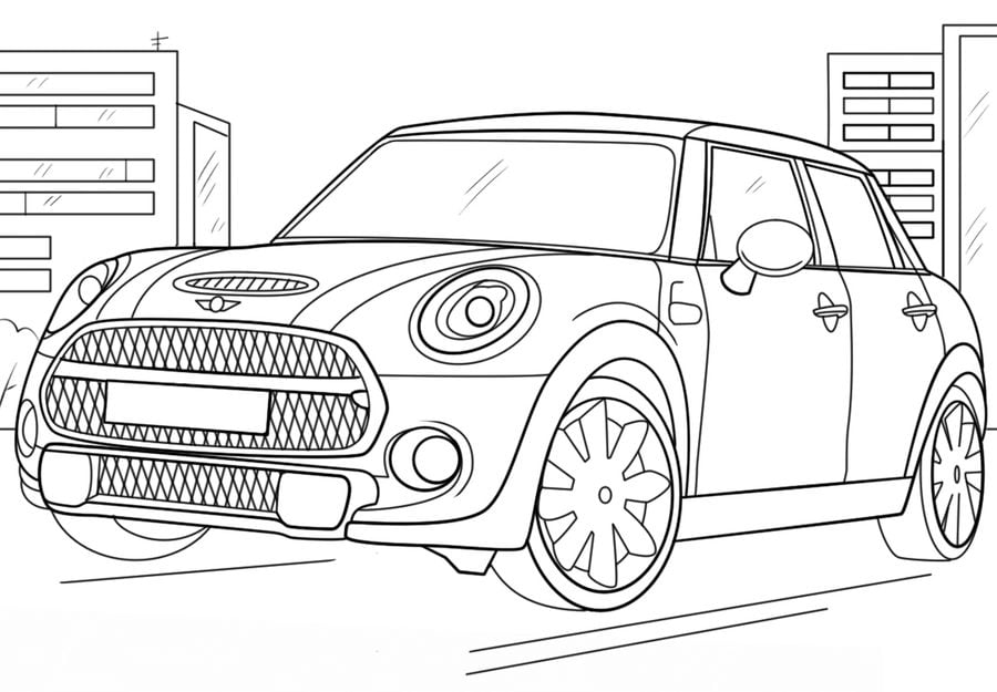 Dibujos para colorear mini cooper imprimible gratis - Coloriage subaru ...