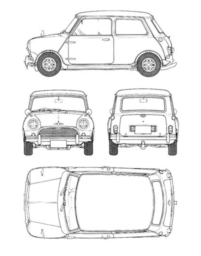 mini cooper panel coloring pages - photo#19
