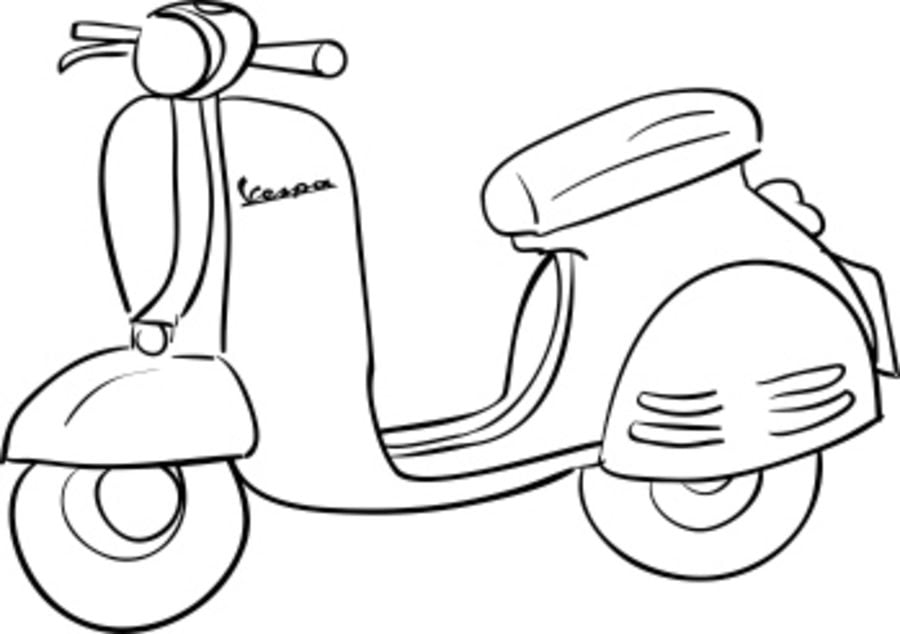 ausmalbilder motorroller zum ausdrucken kostenlos f r. Black Bedroom Furniture Sets. Home Design Ideas