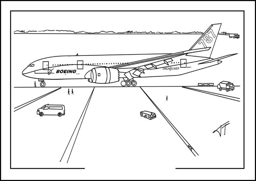 Dibujos para colorear Boeing imprimible