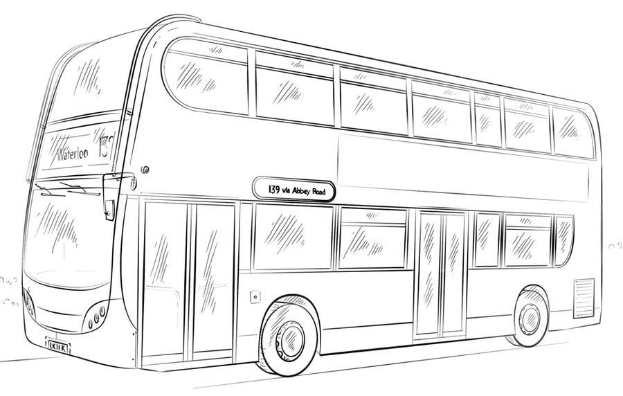 Kolorowanki: Kolorowanki: Autobus Do Druku Dla Dzieci I