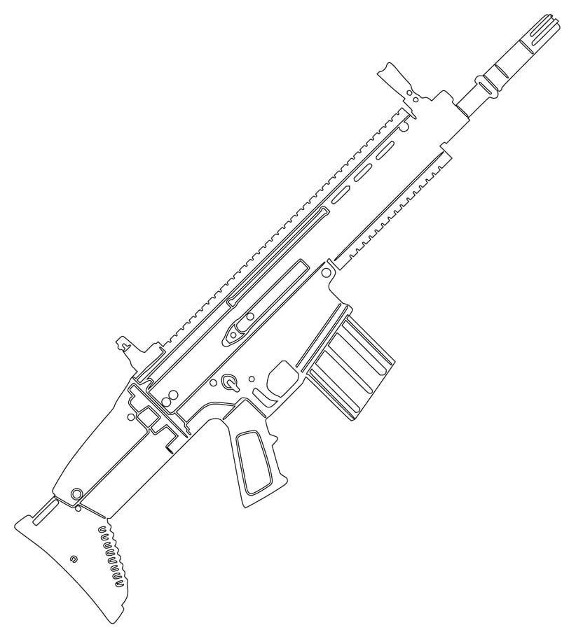 Ausmalbilder Ausmalbilder Maschinengewehr Zum Ausdrucken