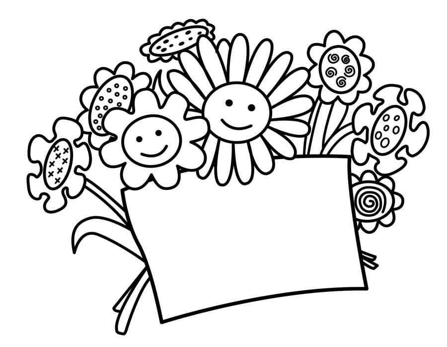 Открытки раскраски с днем рождения для мамы 503