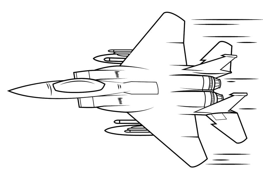 Coloring Pages | jet Airplane Coloring Page | 636x900