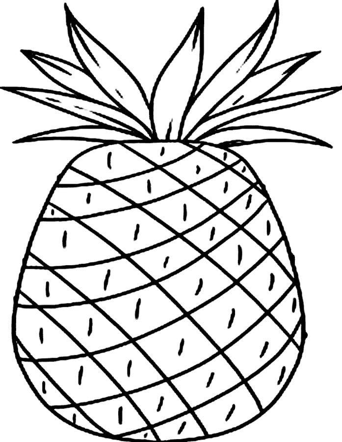 kolorowanki  kolorowanki  ananas do druku dla dzieci i