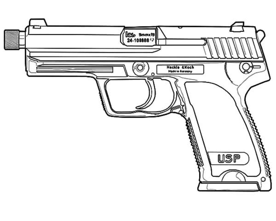 Kolorowanki Kolorowanki Pistolet Do Druku Dla Dzieci I