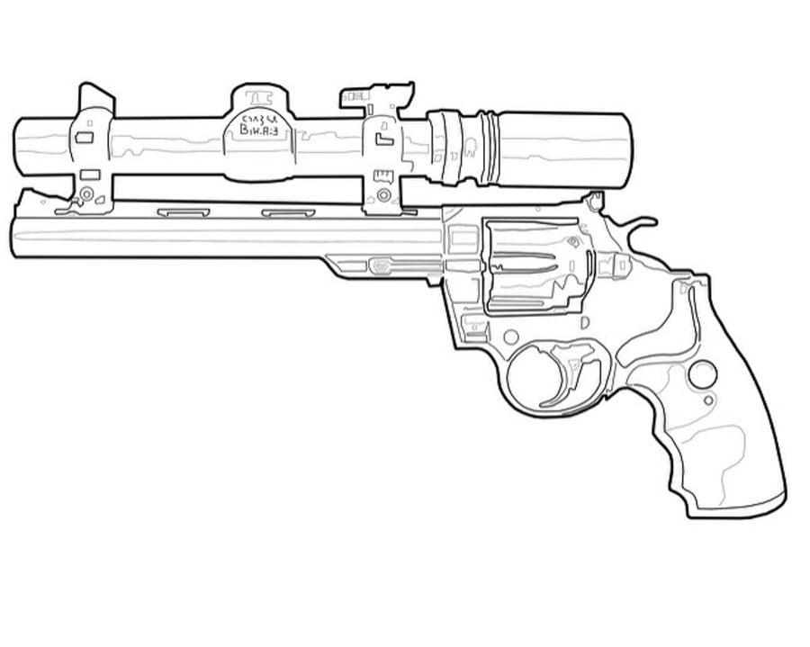 Ausmalbilder Ausmalbilder Revolver Zum Ausdrucken Kostenlos Für