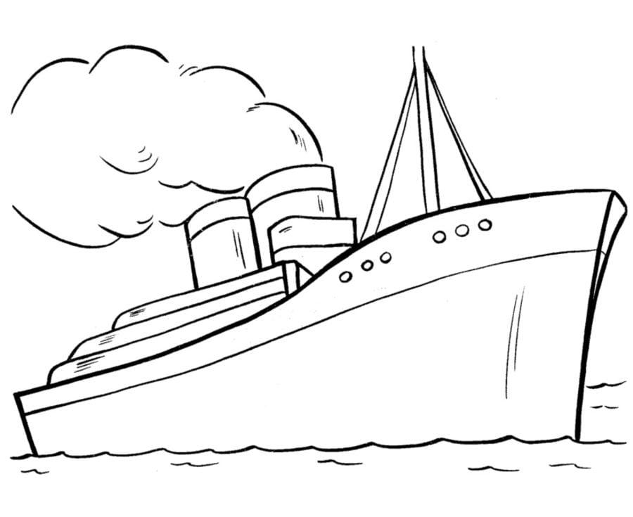 Kolorowanki Kolorowanki Statek Do Druku Dla Dzieci I Doroslych