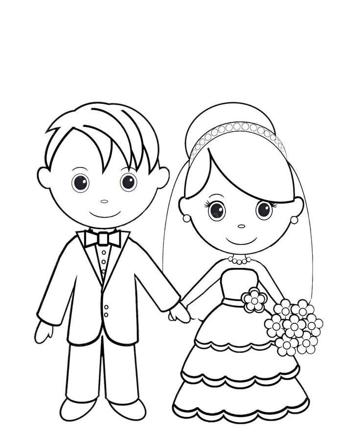 Disegni Da Colorare Disegni Da Colorare Sposo E Sposa Stampabile