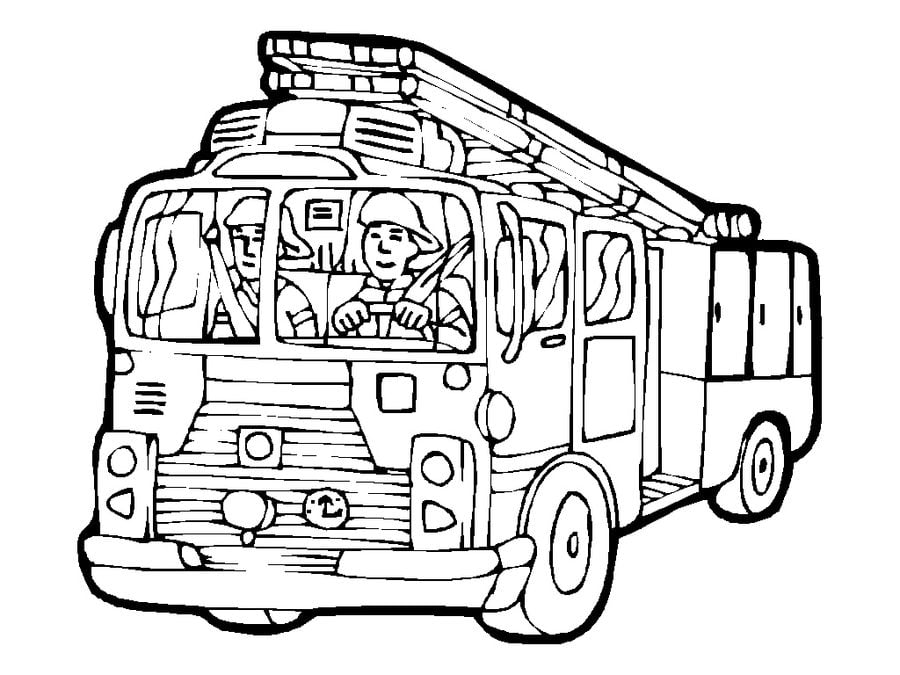 Free Printable Fire Truck Coloring Pages For Kids | Monster truck ... | 675x900