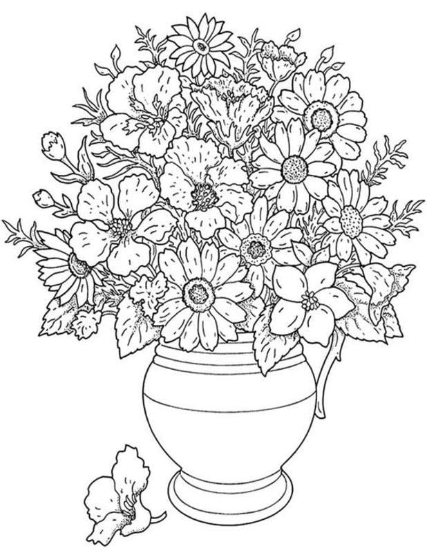 Kolorowanki Dla Dorosłych Kwiaty Do Druku Do Pobrania Za Darmo