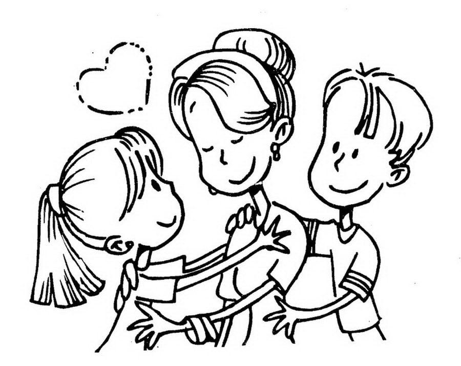 Ausmalbilder: Mutter Ausmalbilder Feiertagen Muttertag