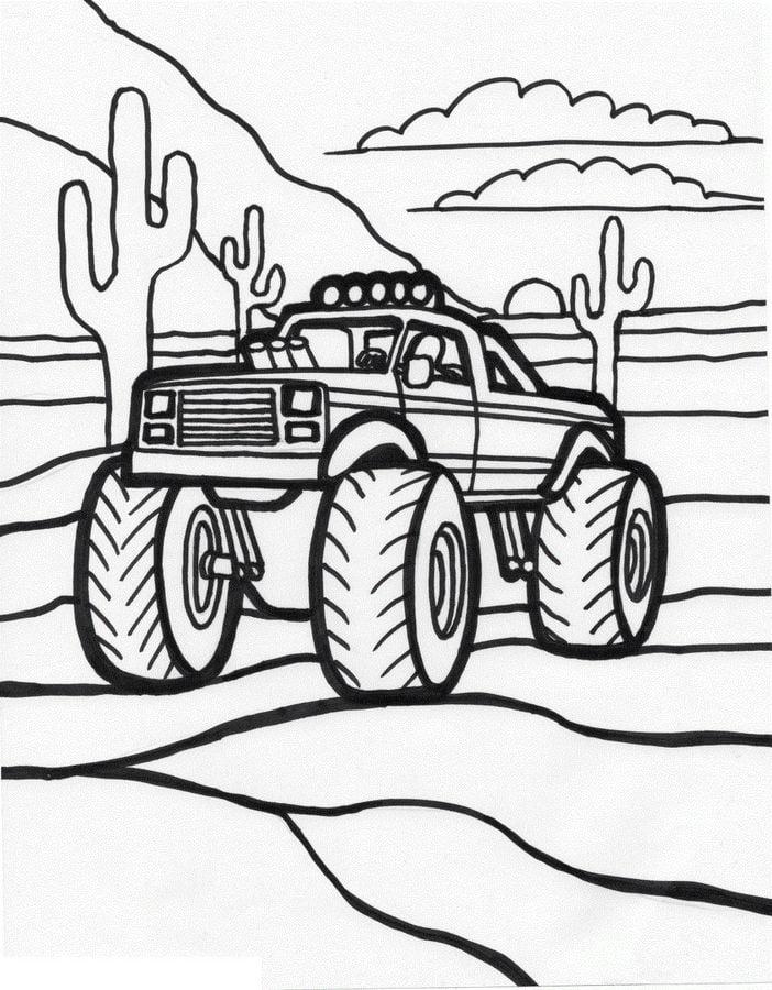 Ausmalbilder: Geländewagen Ausmalbilder Autos Transport