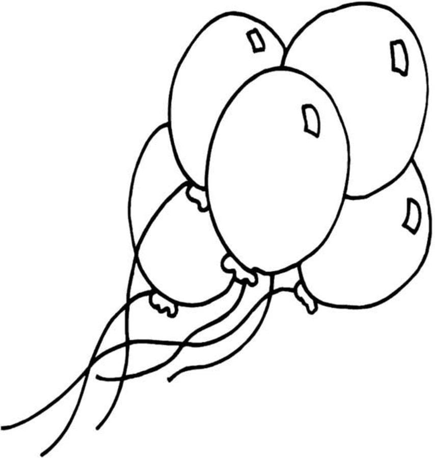 Ballon Anniversaire Coloriages Fêtes Réveillon de la Saint-Sylvestre