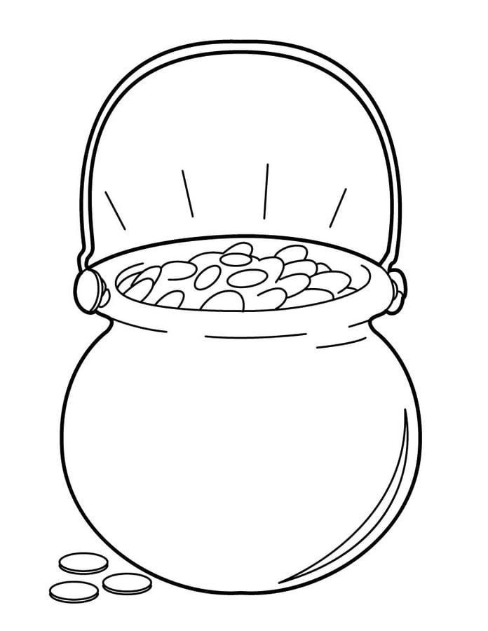 Pot of Gold Coloring Pages - Best Coloring Pages For Kids | 900x696