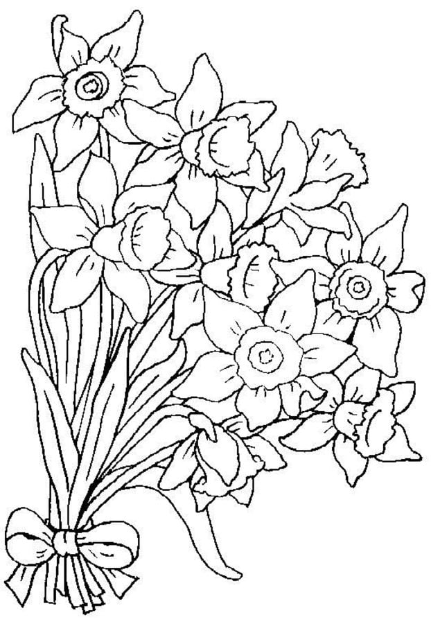 Disegno Mazzo Di Fiori.Coloring Pages Coloring Pages Wedding Bouquet Printable For