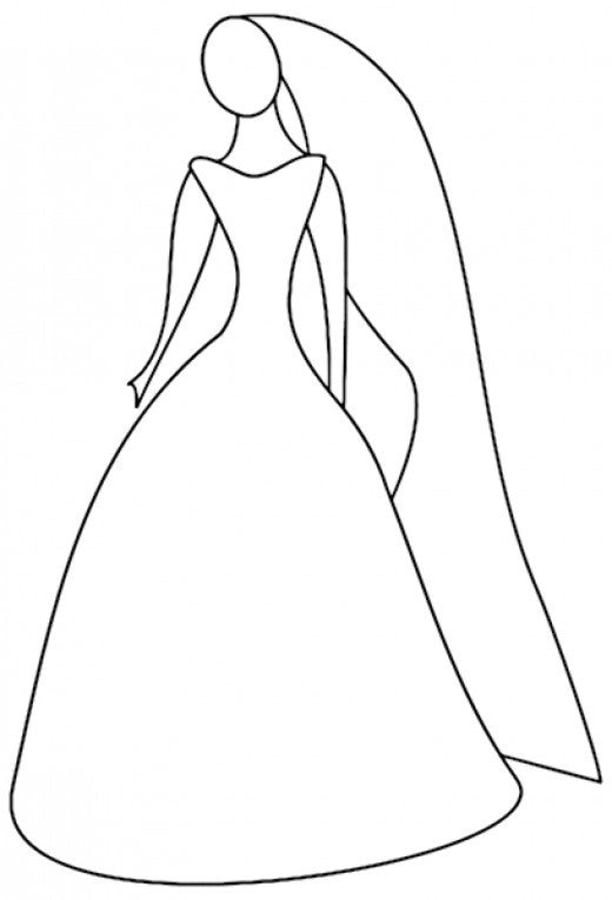 Light dress coloring page for girls, printable free | Malvorlagen ... | 900x612