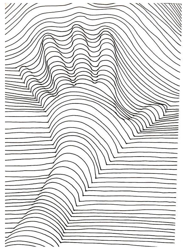 Articles similaires à Digital Optical Illusion #1 Coloring Page ... | 800x591