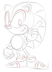 How To Draw Sonic The Hedgehog Easy Step By Step Tutorial For Kids