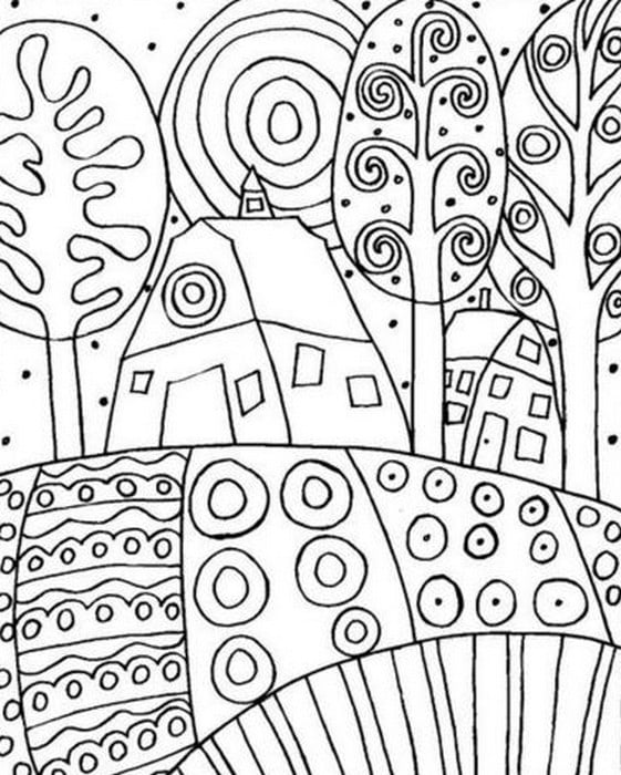 Coloring pages for adults: Gustav Klimt, printable, free ...